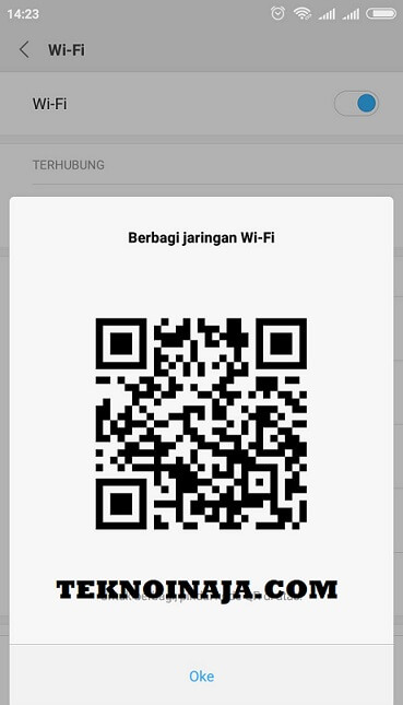 bagi password wifi barcode