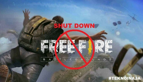 free fire shut down