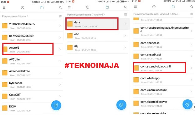 save video tiktok di android