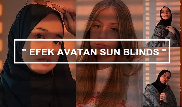 avatan sun blinds effect